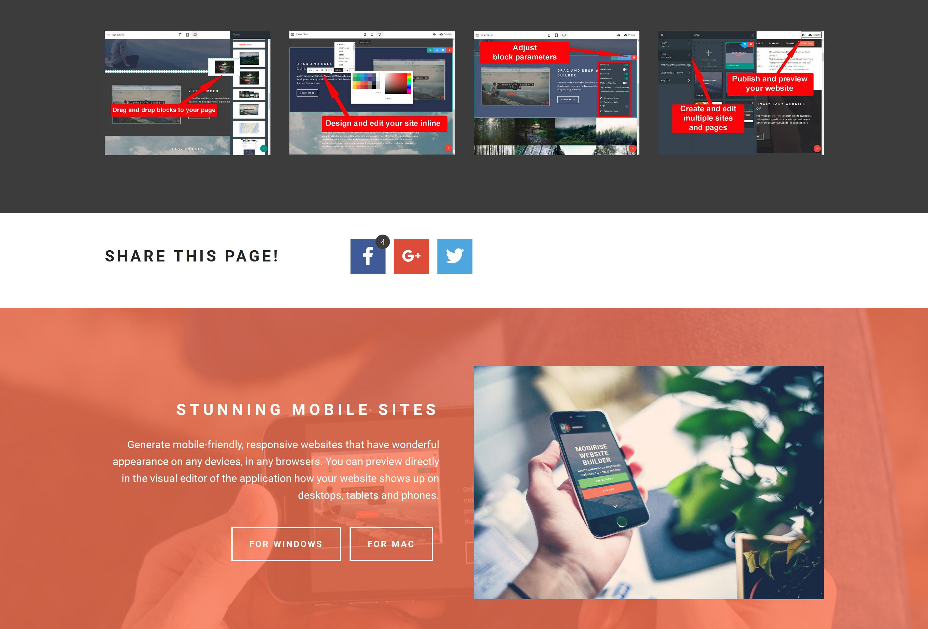 Fast and Simple Website Creator