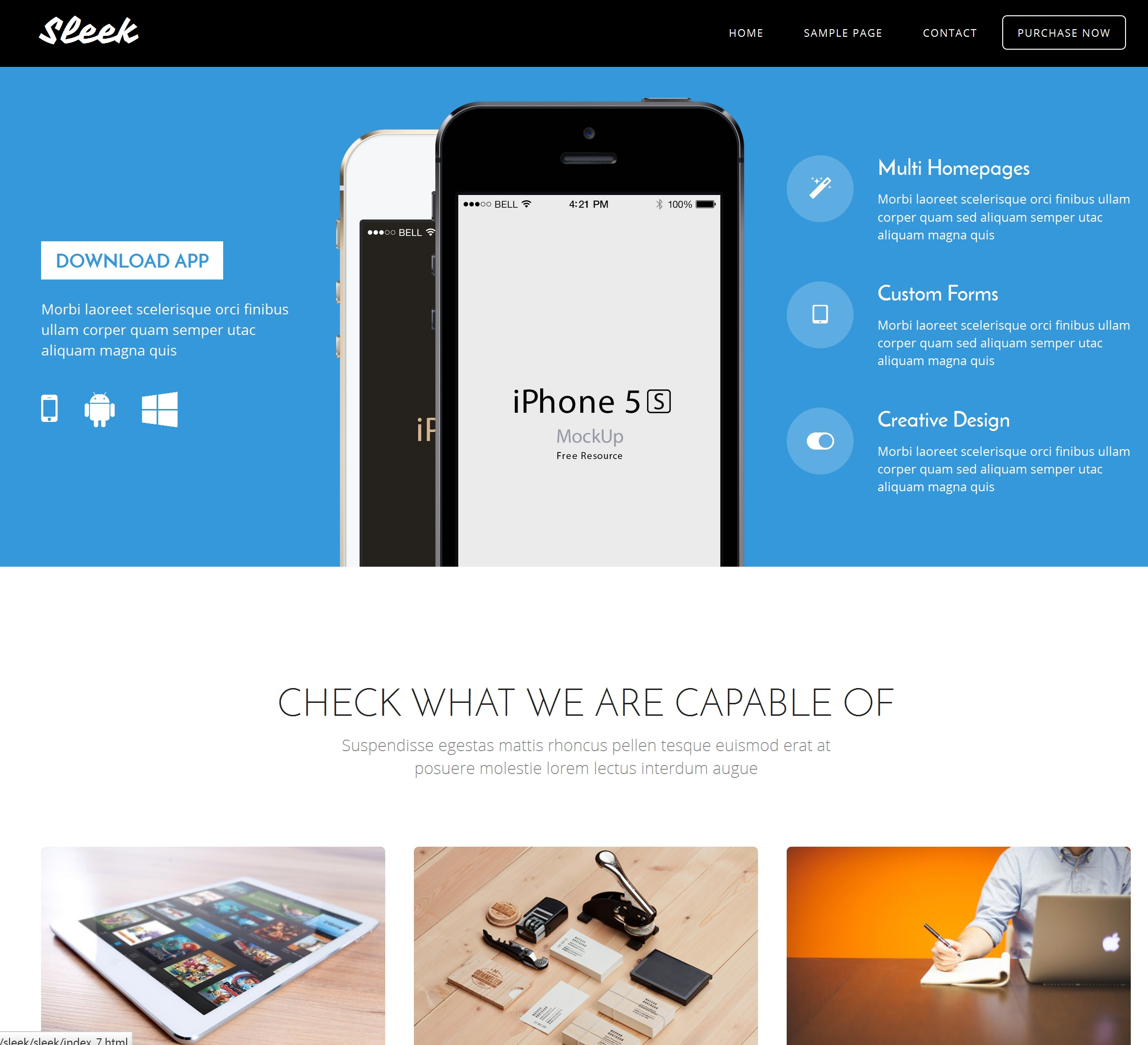 CSS3 Bootstrap Single Page Theme