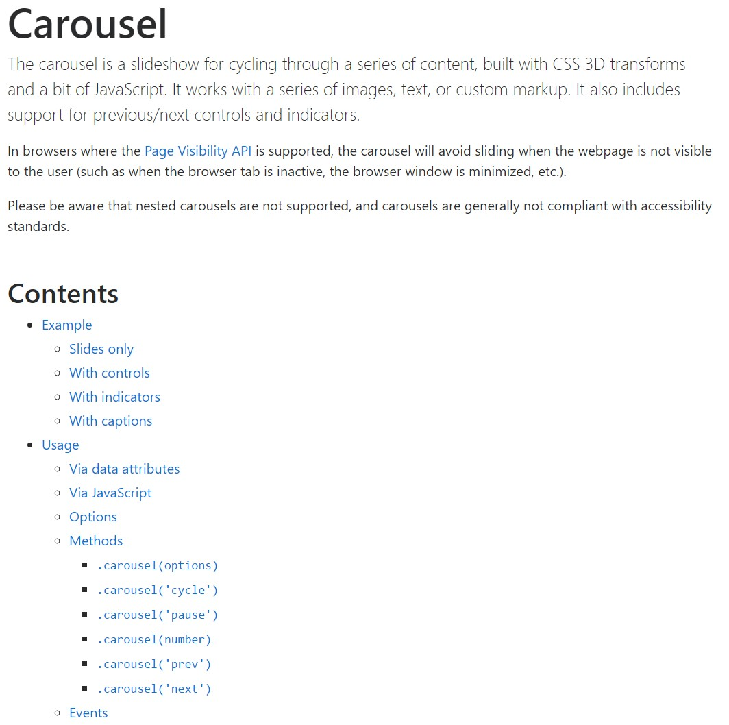Bootstrap carousel  approved  documents