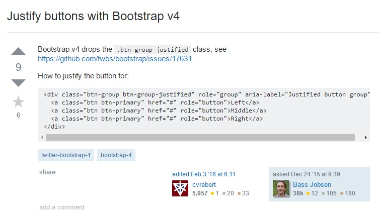 Maintain buttons  using Bootstrap v4