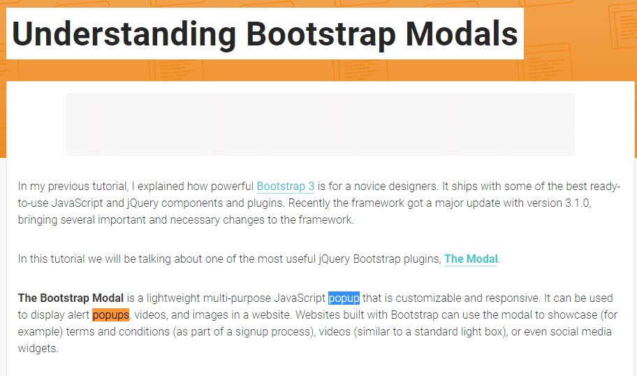 Yet another  practical article  relating to Bootstrap Modal Popup