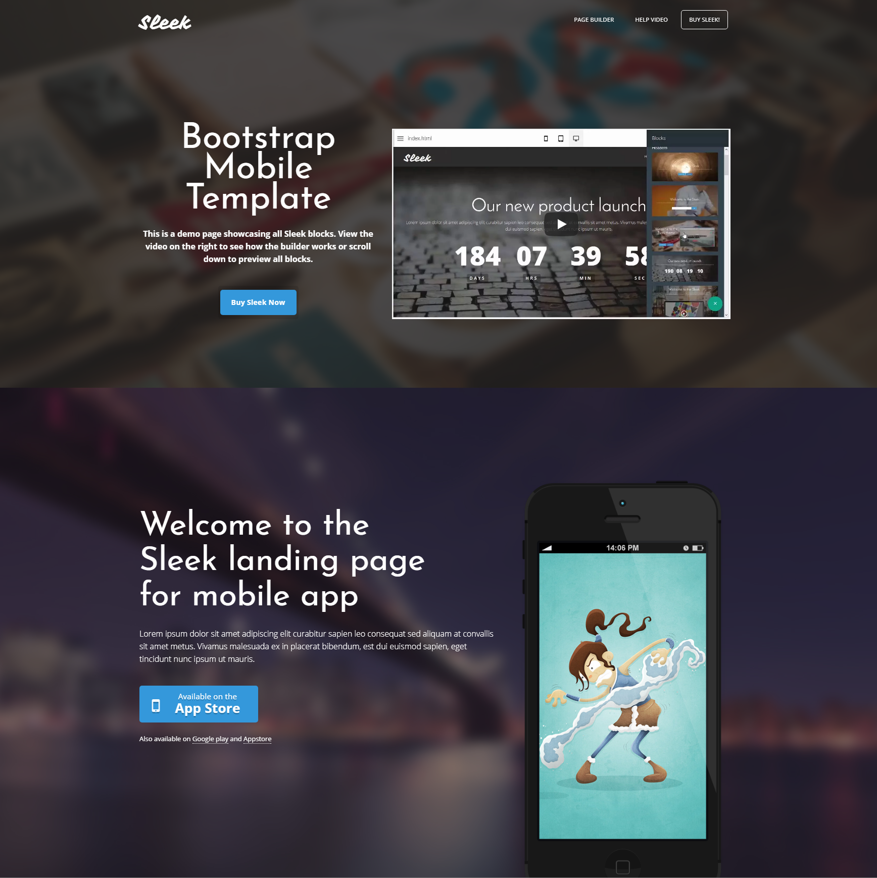 Free Download Bootstrap Mobile Templates