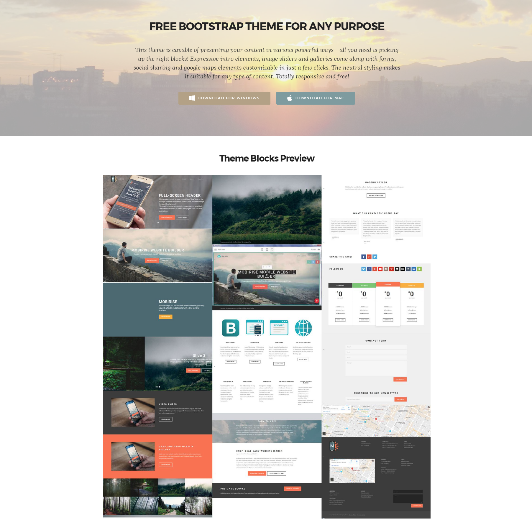 HTML Bootstrap Templates