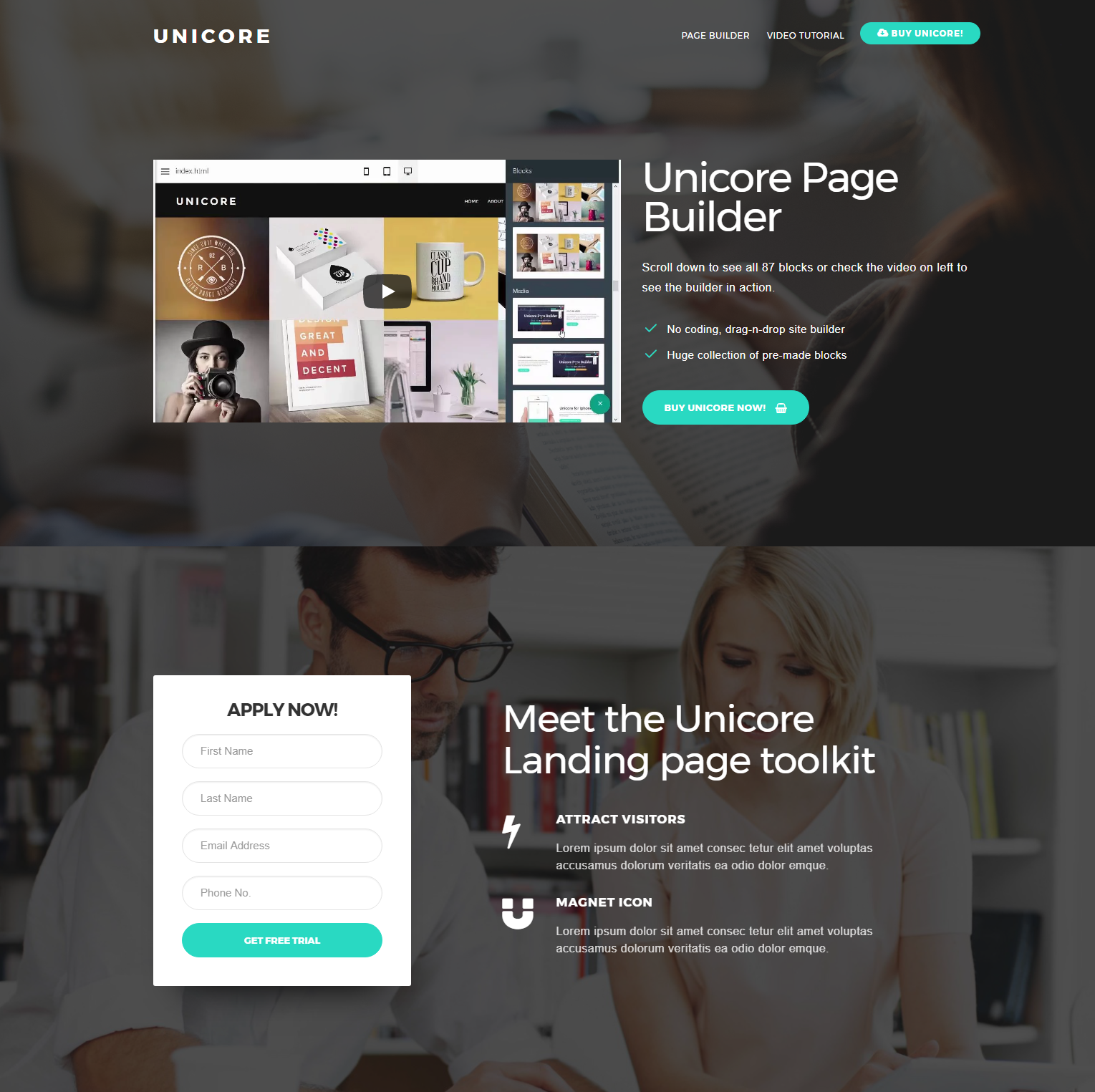 Free Download Bootstrap Unicore Templates