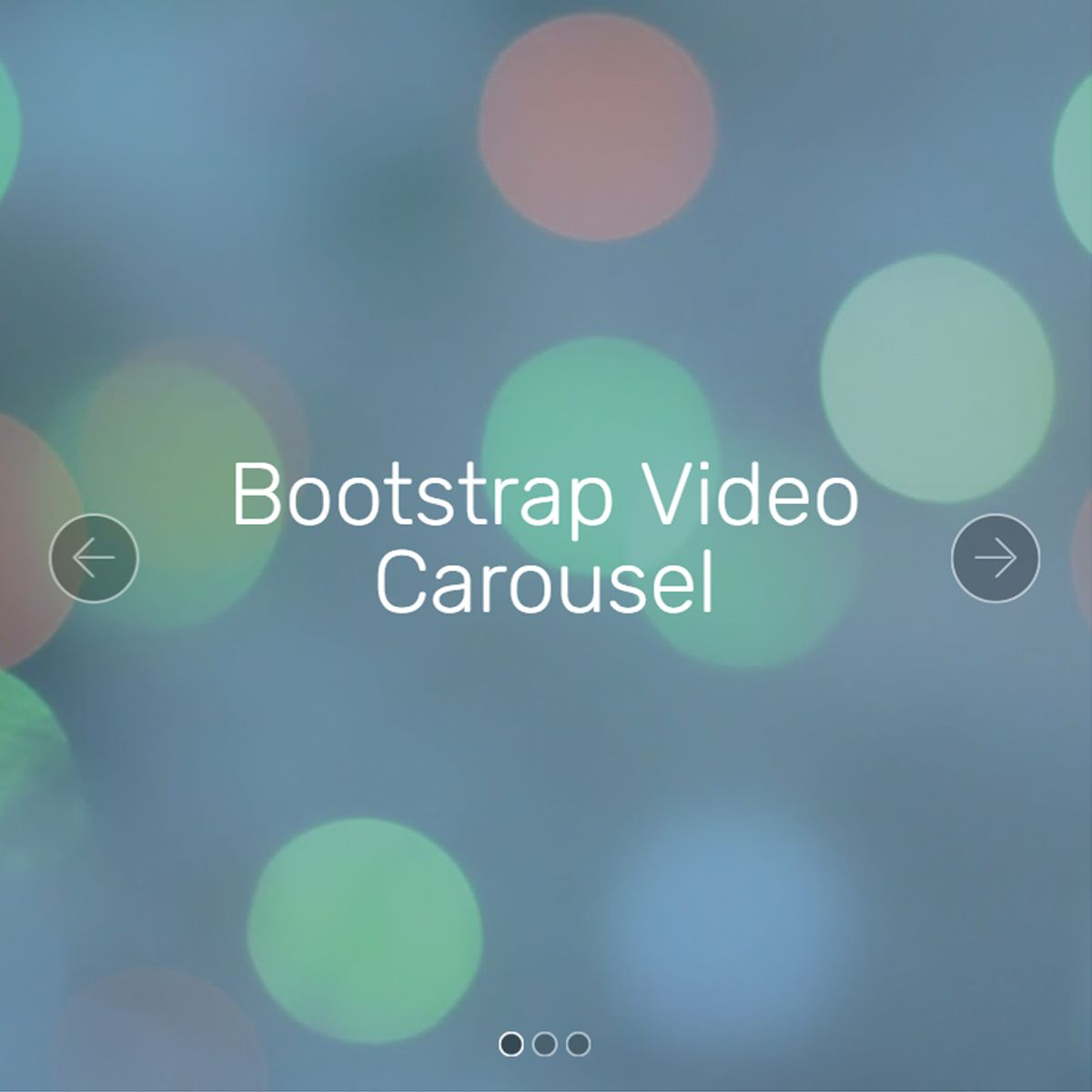 CSS Bootstrap Image Slideshow